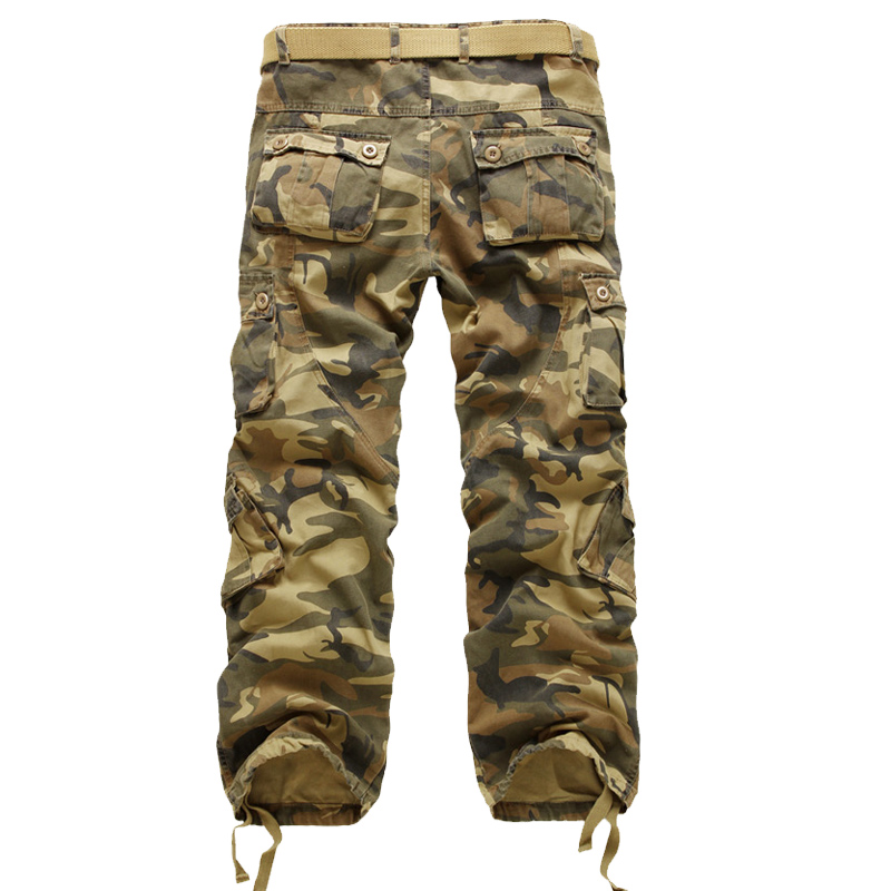 High Quality Men Cargo Pants Brand New Spring Army Work Pant Plus Size Camouflage Casual Men Pants Trousers Male 28-42 7Colors