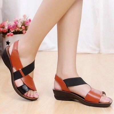 D'âge Femme Été Moyen Sexy 2 Mou Mode Dames Taille Grande Confortable De 1 Chaussures Sandales 2018 Nouveau Fond q8zWt4tT