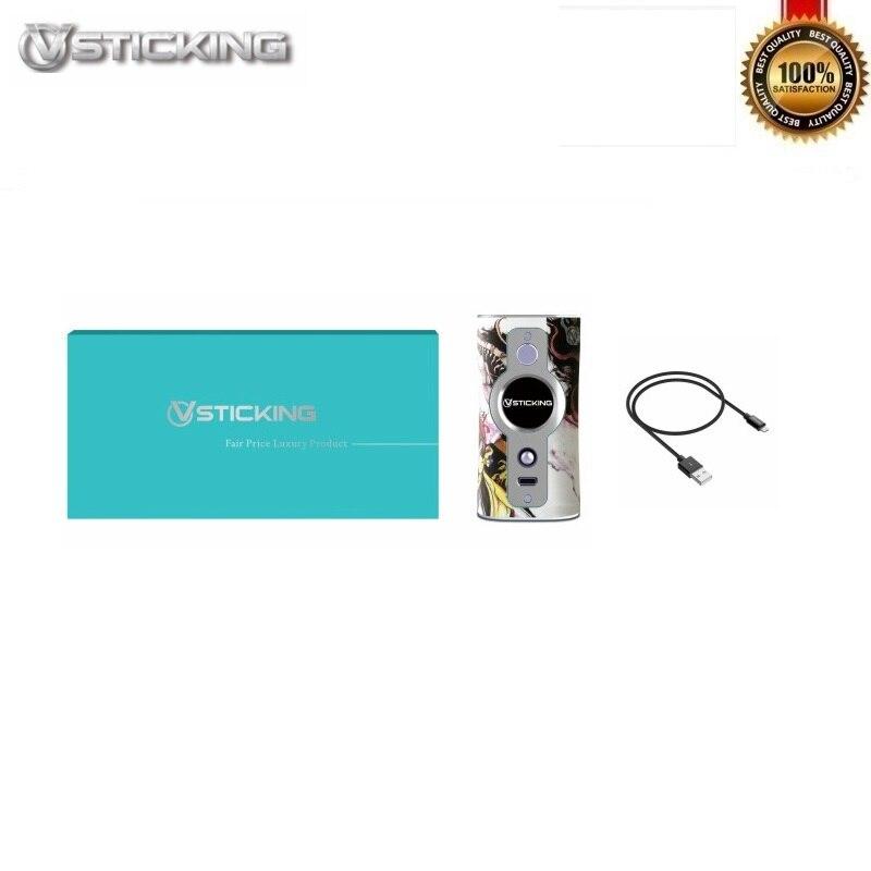 D'origine VSTICKING VK530 Boîte Mod 200 W Alimenté Par Double 18650 Batteries Fit 510 Fil Vaporisateur Réservoir Vaporisateur Anti- sec Combustion Tech - 5