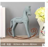 Vintage rocking horse home furnishin living room and bar decoration photography props accessories manufacturers direct inventory