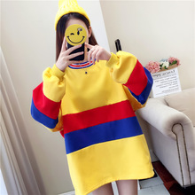 M new Korean version of the long hoodie womens lazy wind loose long-sleeved Harajuku