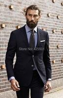 Black Business Men Suits Custom Made Wedding Suits For Men Elegant Brand Prom Slim Fit Groom