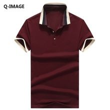 Men Polo Shirts Short Sleeve Cotton Turn-down Collar Solid Slim Polo Tees Shirts Fashion Brand Men Tops Tees Business Shirts