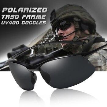 Gafas De Sol polarizadas TR90 para hombre, lentes De Sol ultralivianas, Anti-UV, adecuadas para conducir, estilo militar, 2020