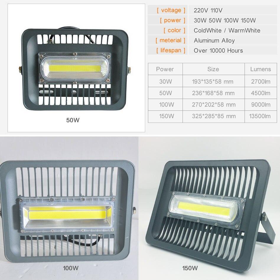 LED ջրհեղեղի լույս 100W 50W 30W Floodlight IP65 - Արտաքին լուսավորություն - Լուսանկար 2