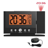 10 pcs XNCH LCD Projection LED Display Time Digital Alarm Clock Talking Voice Prompt Thermometer Snooze Function Desk