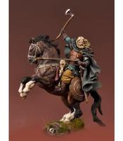 1/32 54mm Mounted Viking Warrior 54mm toy Resin Model Miniature Kit unassembly Unpainted