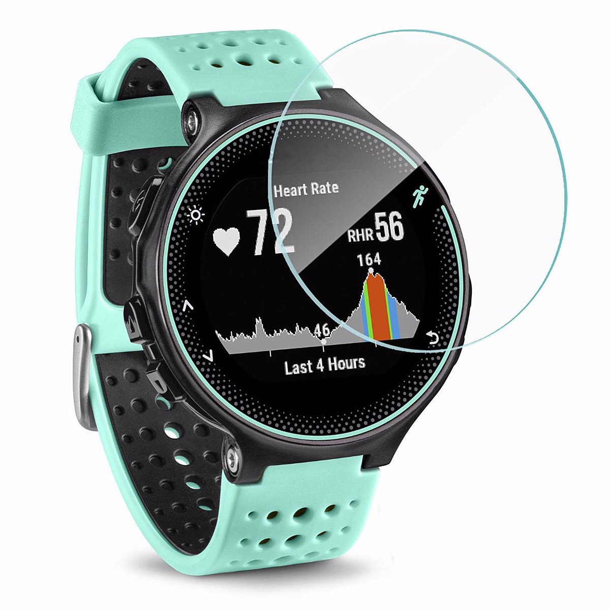 For Garmin Forerunner 235 Watch Tempered Glass Protective Film Anti-Scratch Screen Protector Clear Film Shield Full Cover 3 clear lcd pet film anti scratch screen protector cover for handheld gps navigator garmin oregon 600 600t 650 650t