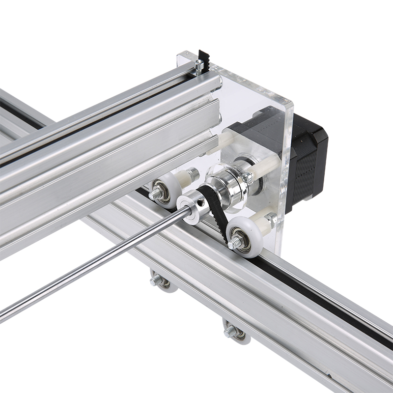 Mini Laser Engraving CNC Machine Made Of Aluminum Alloy and Acrylic Frame Material