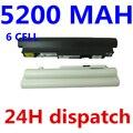 5200 mah blanco y negro batería para ibm lenovo ideapad s10-2 l09c3b12 l09c6y12 l09m3b11 l09c3b11 l09m6y11 l09s3b11 l09s6y11