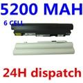 5200mAh white and black  Battery For IBM Lenovo IdeaPad S10-2 L09C3B12 L09C6Y12 L09M3B11 L09C3B11 L09M6Y11 L09S3B11 L09S6Y11