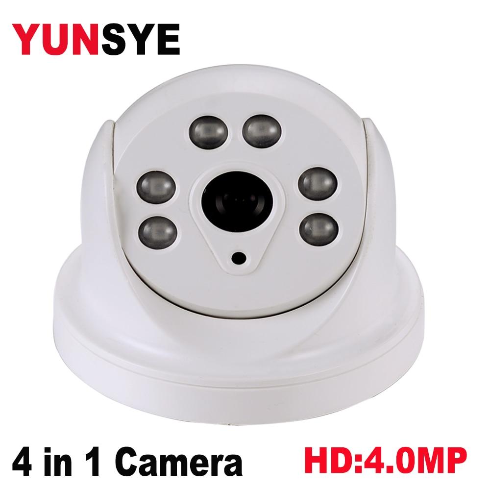 2018 NEW YUNSYE 3.6MM Dome Camera 4 in 1 camera AHD/TVI/CVI/CVBS CAMERA AHDH 4MP 2592*1520 Sensor FULL HD 4MPP AHD Camera DWDR 4 5 inch 1080p ahd ptz camera 2 0mp ahd tvi cvi cvbs 4 in 1 medium speed dome camera outdoor