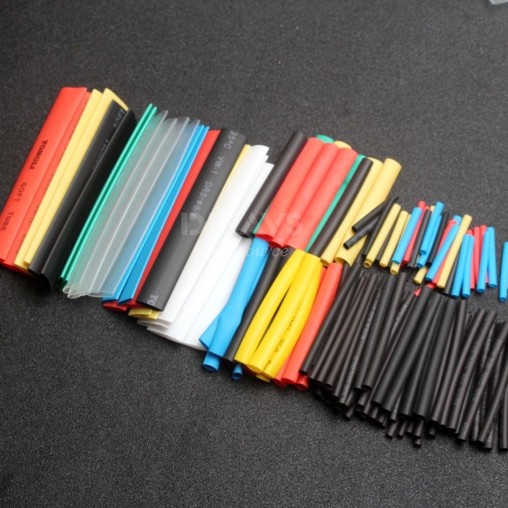 Flame Retardant Polyolefin Heat Shrink Tubing Tube Kit (150 Pieces) ...