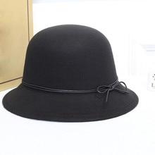 Женская крученая шерстяная фетровая шляпа, Летняя женская панама шляпа с широкими полями с поясом, шляпа бренда Gorra Hombre