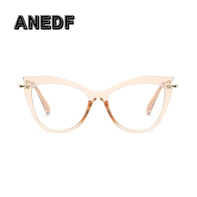 ANEDF Cat Eye Glasses Frames Men Women Brand Designer Optical EyeGlasses Fashion Computer Glasses Eyeglasses Frame
