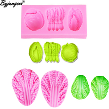 M2004 Chinese Cabbage Silicone Mold Vegetables 3D Cake Decoration tools Fondant Clay Epoxy UV Resin Mould