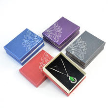 Box For Jewelry Free Shipping wholesale 40pcs/lot 9*6.8*3.5cm Necklace Pendant Packaging Box Jewelry Gift Display Case