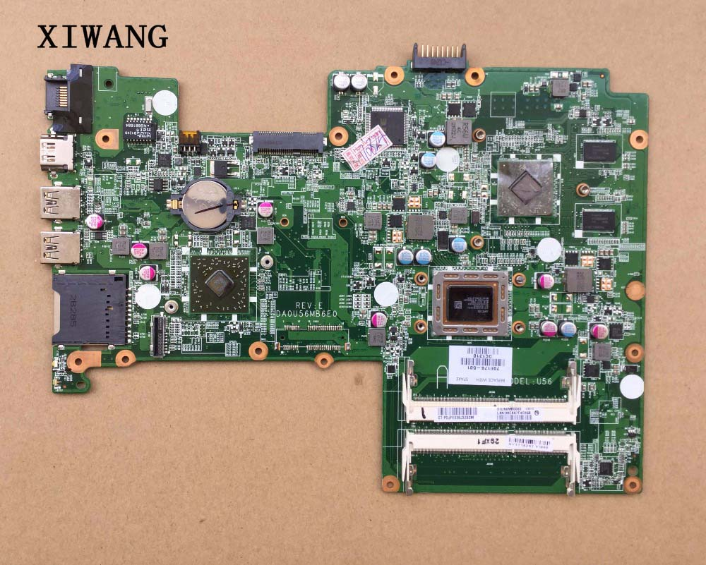 709176 001 DA0U56MB6E0 For HP Pavilion Sleekbook 15 laptop motherboard 709176 501 cpu A8 4555M 100% Tested 60 days warranty
