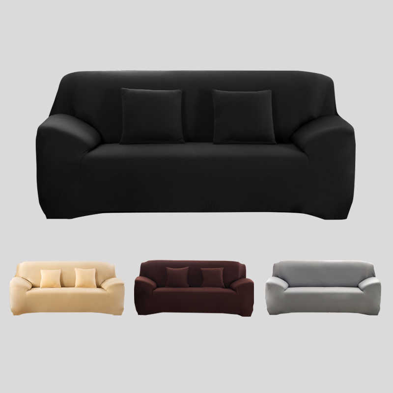 Fine Solid Sofa Cover Elastic Slipcovers For Armchairs Protector Sofa Set Housse Canape Sofa Covers For Living Room Couch Cover 1Pc Uwap Interior Chair Design Uwaporg