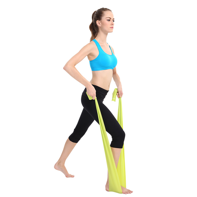 1.5m Yoga Pilates Stretch Resistance Band Exercise Fitness Band Training Elastic Exercise Fitness Rubber Unisex String Chest heart fitness by exercise