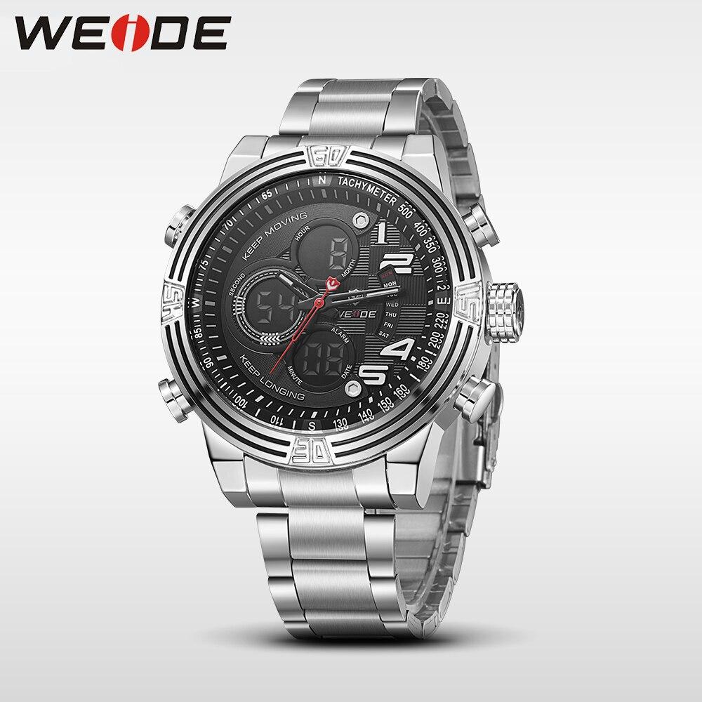 Weide reloj de pulsera deportivo de cuarzo de lujo, moda y casual, - Relojes para hombres - foto 2