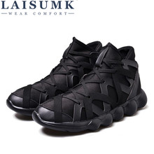 2019 LAISUMK Lover Out Door Mens Lovers High Quality Stitching Shoes Style Males Wholesale