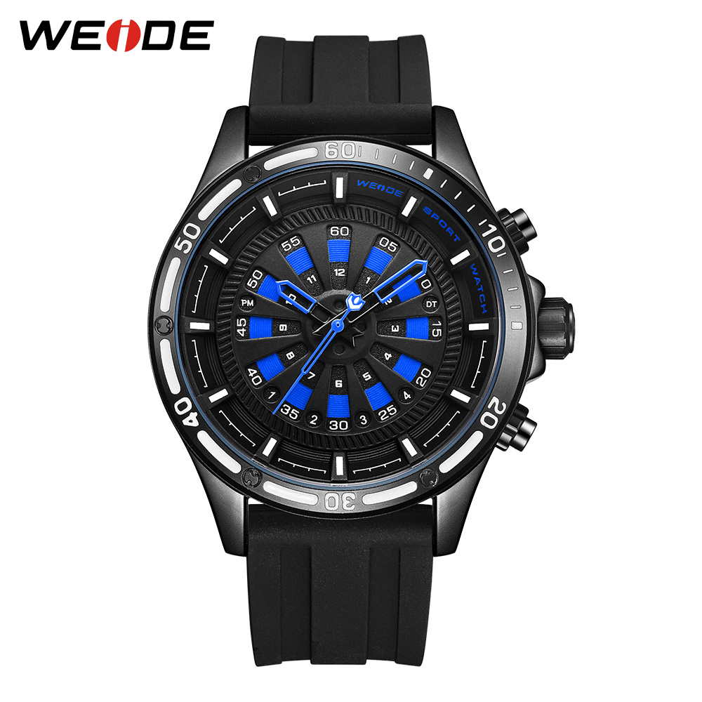WEIDE Military Army Mens Black Silicone Strap Blue Dial Hour LED Display Movement Quartz Wristwatches Clock Relogio MasculinoWEIDE Military Army Mens Black Silicone Strap Blue Dial Hour LED Display Movement Quartz Wristwatches Clock Relogio Masculino