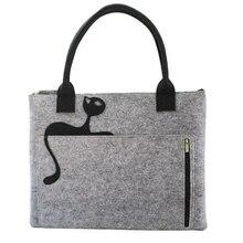 купить 13 inch Felt Laptop Tote Bag with Cat Women Handbag Carrying Briefcase Satchel Bag Sleeve Case for 13.3-inch MacBook Ai C010 дешево
