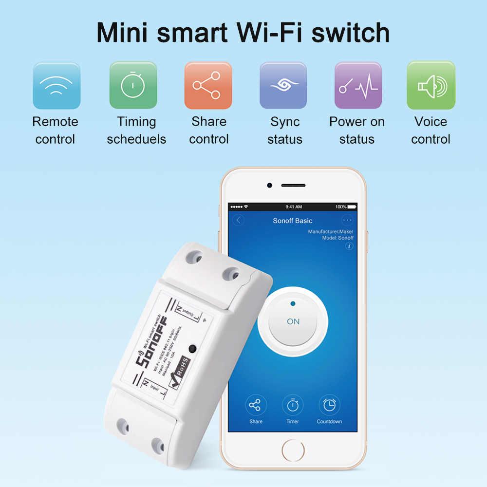 SONOFF базовый Wi-Fi переключатель работы с Alexa для Google Home таймер ... 4b4293272dc