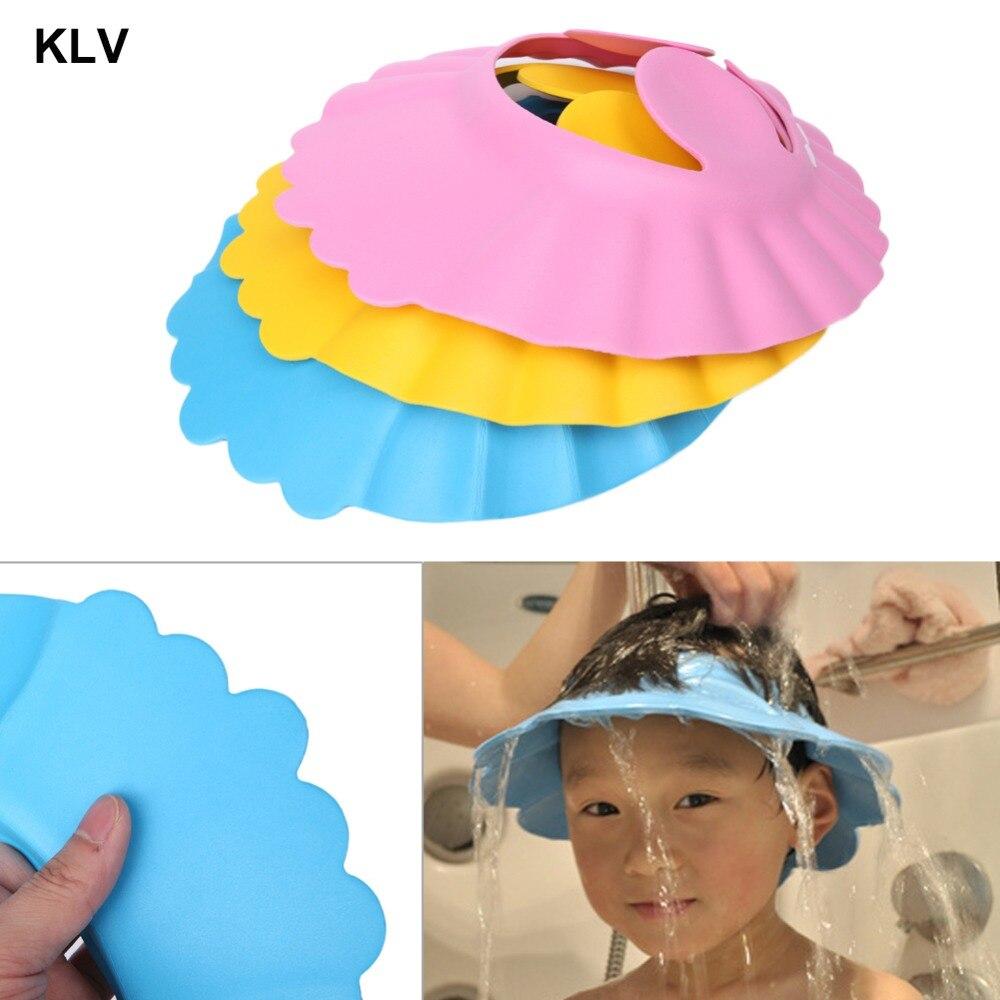 1pc Adjustable Baby Kids Shampoo Bath Bathing Shower Cap Hat Wash Hair Shield