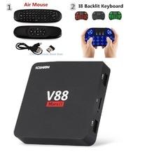 Scishion V88 Mars II Мини ТВ Box четырехъядерный Android 6.0 2 ГБ 8 ГБ 4 К WiFi Smart декодер каналов кабельного телевидения RJ45 HDMI Поддержка IP ТВ OTT Box