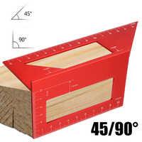 Multifunctional 45/90 Degree Aluminum Precision Angle Gauge Corner Machinist Square Ruler Measuring Tool