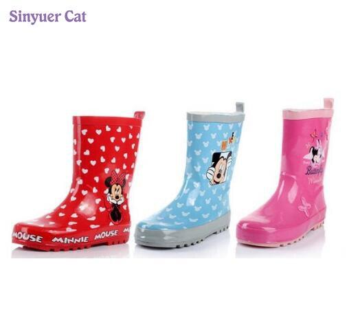 Kids Rain Boots For Girls boys Waterproof Children Rubber Shoes Girls Rainboots Chaussure Enfant kids rain Boots стоимость