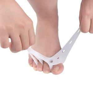 2 шт./компл. силиконовый гель корректор пальцев ног три отверстия палец сепаратор палец вальгусный протектор Bunion регулятор вальгусной защиты