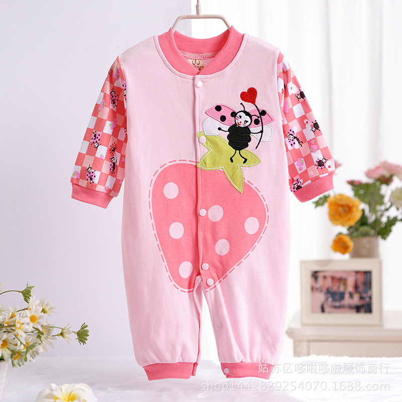 ФОТО baby girls clothes autumn/winter pink baby rompers  long sleeved girls coveralls for newborns boy girl  baby clothing