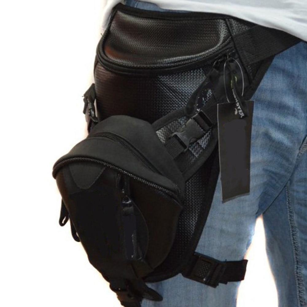 Motorsykkel Rider Mann Drop Leg Bag Militær Trekking Assault Microfiber Menn Hip Travel Belt Fanny Waist Pack Bags