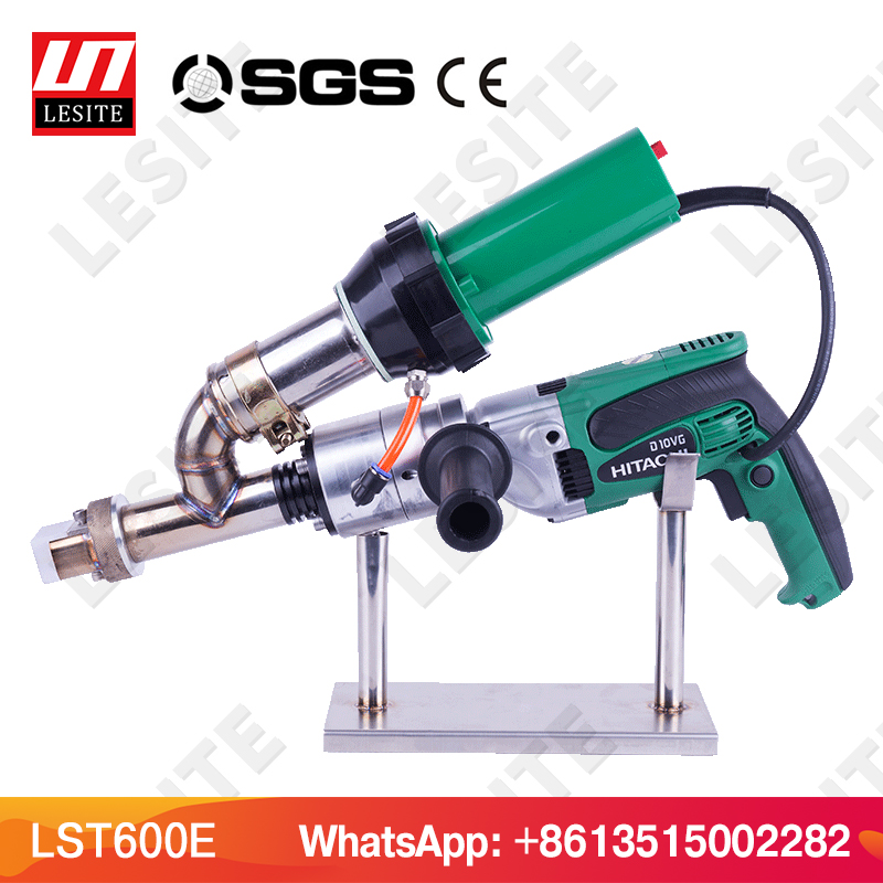 Plastic extrusion welder HDPE welder PP plastic welding extruder machine plastic welding gun extrusion tool 220v hot melt plastic welding machine lst600b with anti hood welding extrusion hot air gun handwheel extruder for tank tube