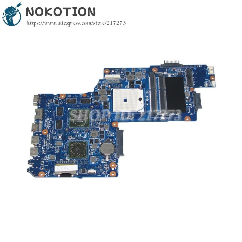 NOKOTION H000050830 Main board For Toshiba Satellite L850D C850D Laptop Motherboard Socket FS1 DDR3 HD7670M Video card nokotion a000174120 daby3cmb8e0 for toshiba satellite l840 laptop motherboard rev e intel hm70 ddr3 socket pga989