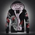 Estilo chinês personalidade domineering dragão padrão de impressão camisola 2016 Inverno moda casual qualidade hoodies dos homens M-4XL