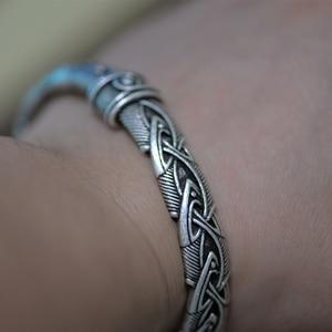 Image 4 - Langhong 10pcs norse viking pulseira e pulseira cabeça de lobo para homem e mulher talismã jóias