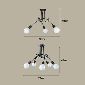 Image 5 - Nordic Loft Chandelier lighting,Vintage Industrial Ceiling Lamp,люстра lustre,bending personality for home & store,Spider chande