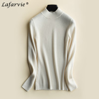 Lafarvie Slim High Quality Knitted Cashmere Sweater Women Tops Autumn Winter Fashion Turtleneck Long Sleeve Pullover