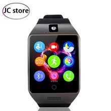 Nuevo 2016 smart watch q18s 1.5 pulgadas de pantalla táctil con whatsapp Facebook Ayuda Cámara TF Tarjeta de Función NFC para Android IOS Teléfono