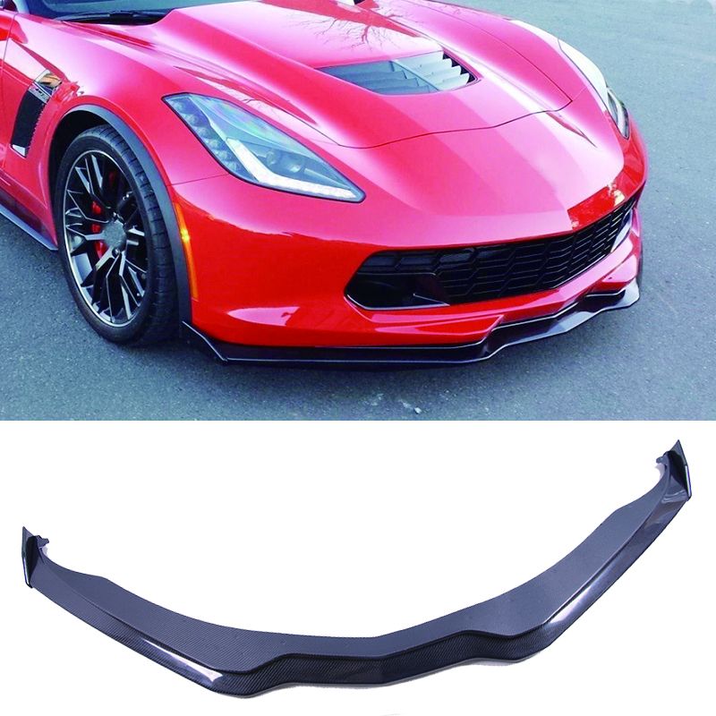RT-S Style Carbon fiber Front Lip Spoiler For Corvette C7