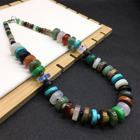2018 New Style Natural Crystal Stone Beads Choker Necklace For Women Jewelry Fashion Natural Stone Agates Power Necklaces