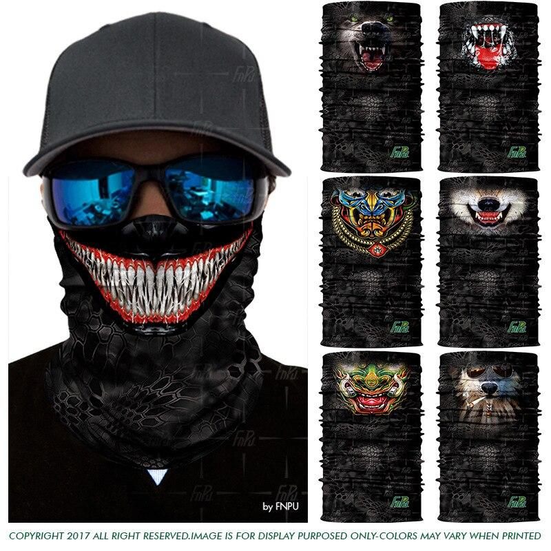 Alien Mask Skull Windproof Anime Venom Magic Scarf Joker Cycling Hiking Headwear Neck Gaiter Bandanas Seamless Balaclava