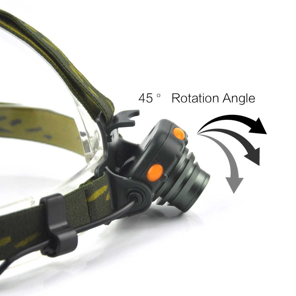 BORUiT 350LM XPE LED Mini far kızıl ötesi sensörü 4-Mode far su geçirmez baş feneri balıkçılık kamp fener AAA pil ile