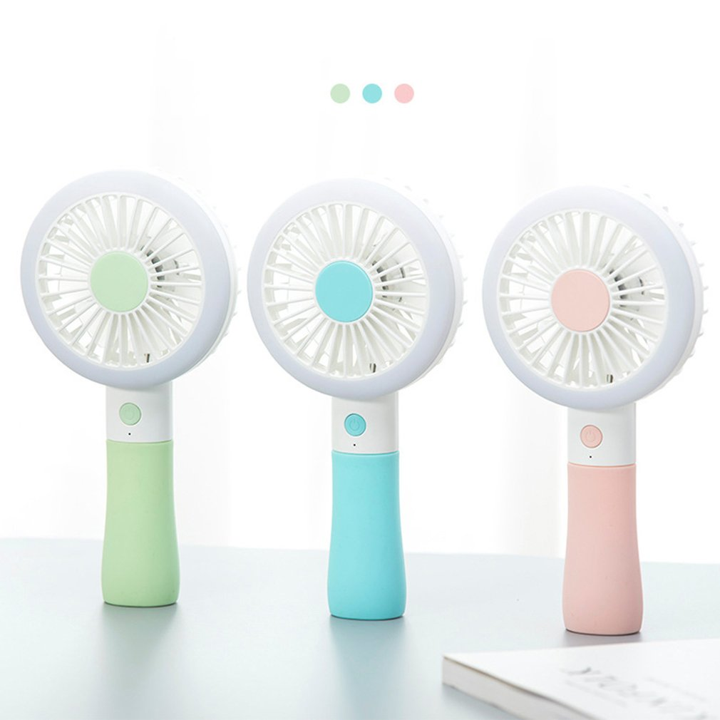 Household Appliances Super Mute Battery Operated Cute Unique Led Love Pattern Handheld Mini Fan For Cooling Spare No Cost At Any Cost