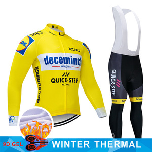 Image 3 - 4 Colors 2019 Team Cycling Jersey Set Belgium Bike Clothing Mens Winter Thermal Fleece Bicycle Clothes Cycling Wear