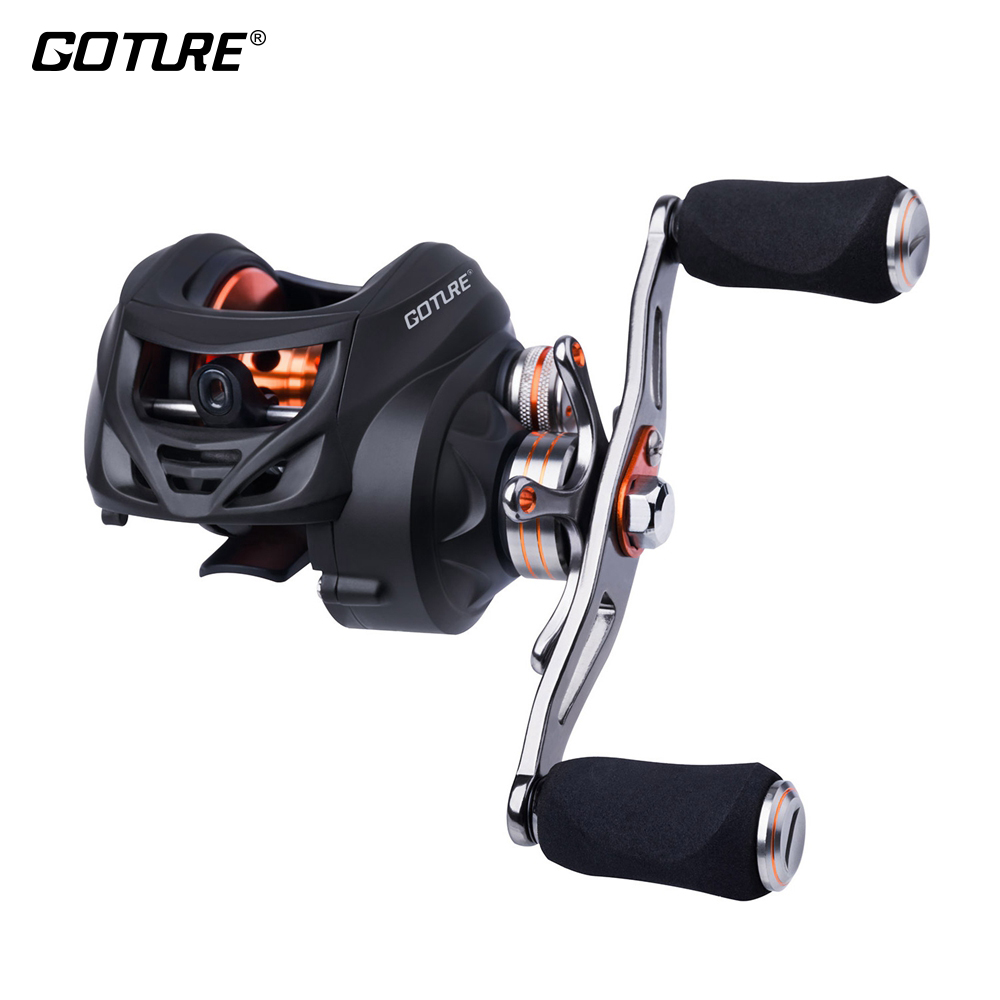 Goture XCEED Anti-corrosion Baitcasting Reel 8kg Max Drag Power 231g Centrifugal Brake System Carbon Fiber Drag Fishing Reel